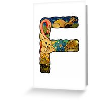 The Letter F Greeting Card