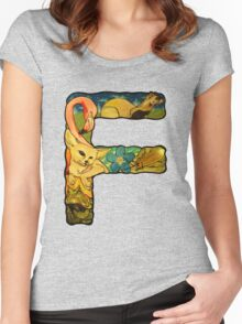 The Letter F Women's Fitted Scoop T-Shirt