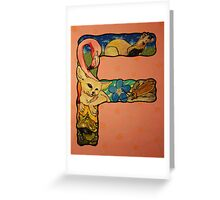 The Letter F Full Painting Greeting Card