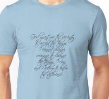 Serenity Prayer Unisex T-Shirt