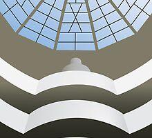 Guggenheim Museum interior by exvista