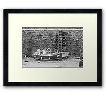 Fishing Boats Sitting Idle Framed Print