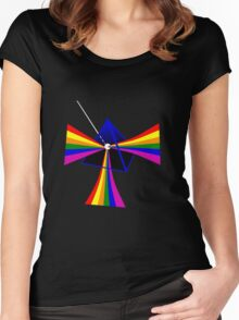 Prism colours Women's Fitted Scoop T-Shirt