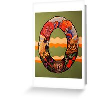 The Letter O Full Painting Greeting Card