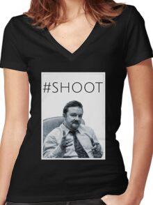 #SHOOT Women's Fitted V-Neck T-Shirt
