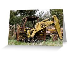 Decaying JCB Greeting Card