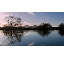 Reflection on winter floods Photographic Print