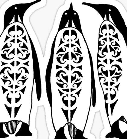 Tribal Penguins Sticker