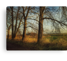 Towards Langley on a Winter Morning Canvas Print