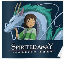 Spirited Away Chihiro and Haku-Studio Ghibli Poster