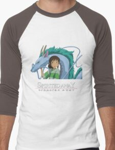 Spirited Away Chihiro and Haku-Studio Ghibli Men's Baseball ¾ T-Shirt