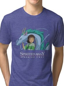 Spirited Away Chihiro and Haku-Studio Ghibli Tri-blend T-Shirt