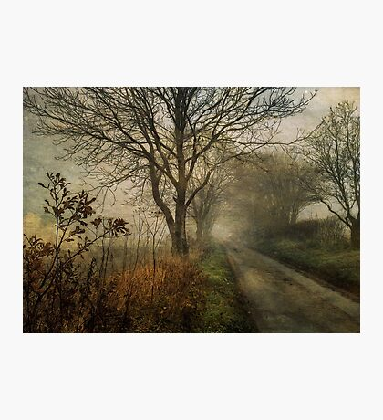 Holloway Road in Winter Fog Photographic Print