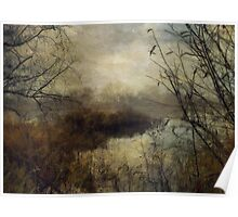 Across the River in Winter Poster