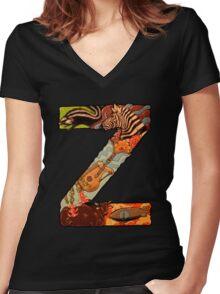 The Letter Z Women's Fitted V-Neck T-Shirt