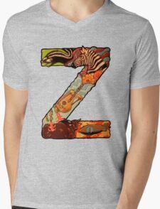 The Letter Z Mens V-Neck T-Shirt