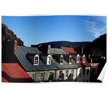 Mountains of Rooftops  Poster