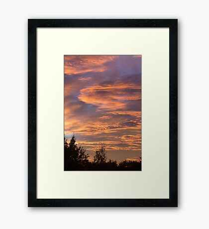 Coloured Clouds Framed Print