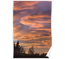 Coloured Clouds Poster