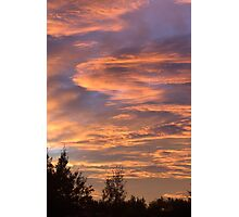 Coloured Clouds Photographic Print