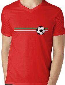 Football Stripes Italy Mens V-Neck T-Shirt
