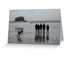Christmas Time on the Cornish Coast Greeting Card