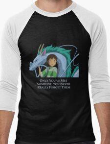 Spirited Away Chihiro and Haku-Studio Ghibli Men's Baseball ¾ T-Shirt