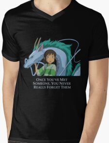 Spirited Away Chihiro and Haku-Studio Ghibli Mens V-Neck T-Shirt