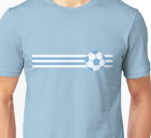 Football Stripes Uruguay  Unisex T-Shirt