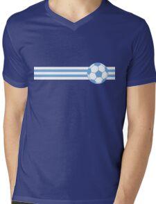 Football Stripes Uruguay  Mens V-Neck T-Shirt
