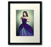 Princess in a Blue Ballgown Framed Print