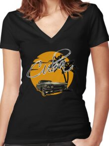 Cadillac - Cuba Women's Fitted V-Neck T-Shirt