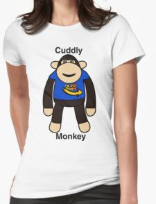 Cuddly Monkey  Womens Fitted T-Shirt