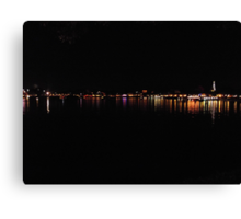 City By Night Canvas Print