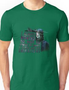 Weeping Angel Statue of Liberty Unisex T-Shirt