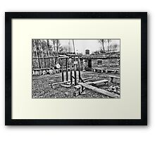 Ft. Bridger Fur Baler Framed Print