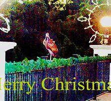 Limpkin on decorated rail by ♥⊱ B. Randi Bailey