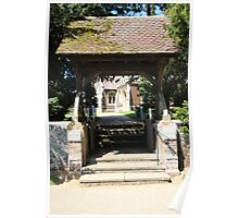 The Lych Gate, Sandringham Church Poster
