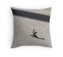 Solitary Reptile Throw Pillow