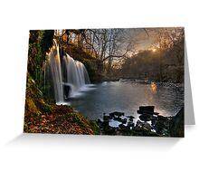Glyneath Waterfall Greeting Card