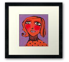 Twiggy Tangerine Framed Print