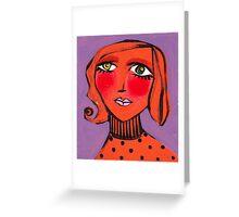 Twiggy Tangerine Greeting Card