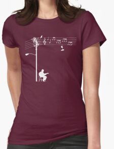 Wired Sound - White Womens Fitted T-Shirt