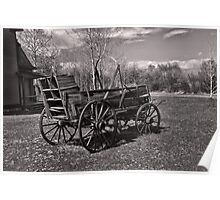 Chuckwagon at Ft. Bridger (Copper-Red Toned) Poster