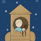 Cardboard kid Rocket (Little Stars Collection) by MissIllustrator