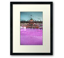 Skating at Somerset House Framed Print