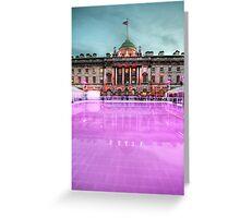 Skating at Somerset House Greeting Card