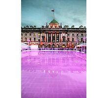 Skating at Somerset House Photographic Print