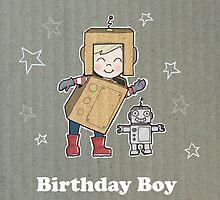 Cardboard Kid Robot (Little Stars Collection) by MissIllustrator