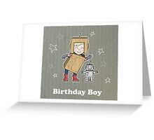 Cardboard Kid Robot (Little Stars Collection) Greeting Card
